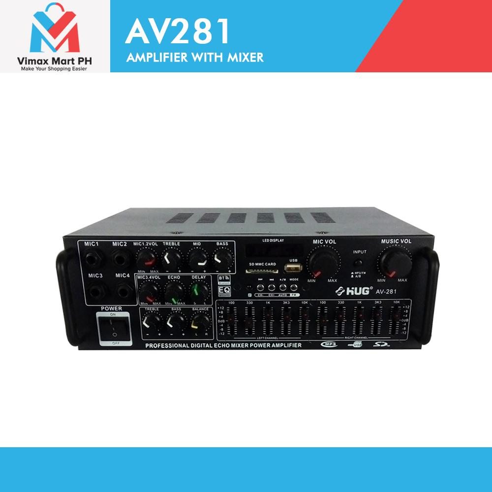hight resolution of hug av281 300 watts amplifier with mixer