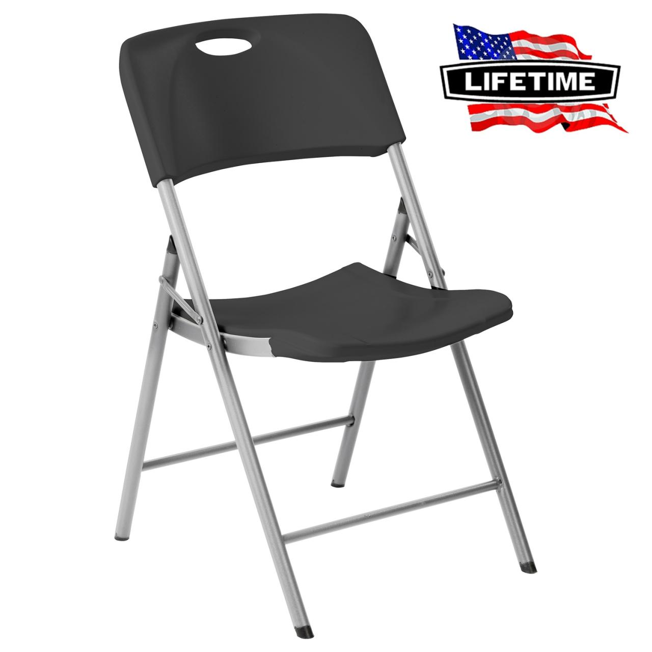 Lifetime Chair Lifetime 80629 Folding Chair Black
