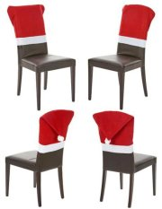santa chair covers sets small kitchen table with 2 chairs 4 of christmas decor cover claus red hat xmas decoration party