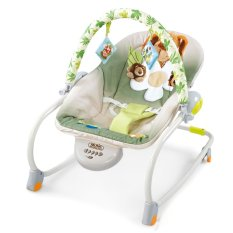 vibrating chair baby wedding covers dundee keimav multifunctional musical rocking bouncer electric swing green philippines