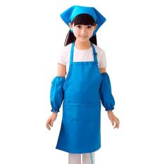 kitchen apron for kids update your cabinets party sale cooking online brands prices unisex adjustable cute waterproof fabric hat sleeves children art painting craft baking