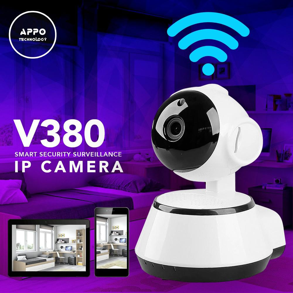 hight resolution of appo v380 home wireless smart security surveillance ip camera white