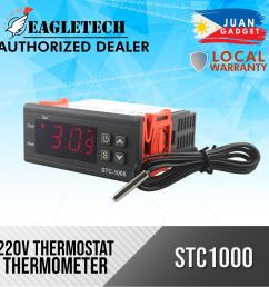 two relay output ac 110 220v 10a lcd digital temperature controller stc 1000 with sensor thermostat with heater and cooler [ 2000 x 2000 Pixel ]