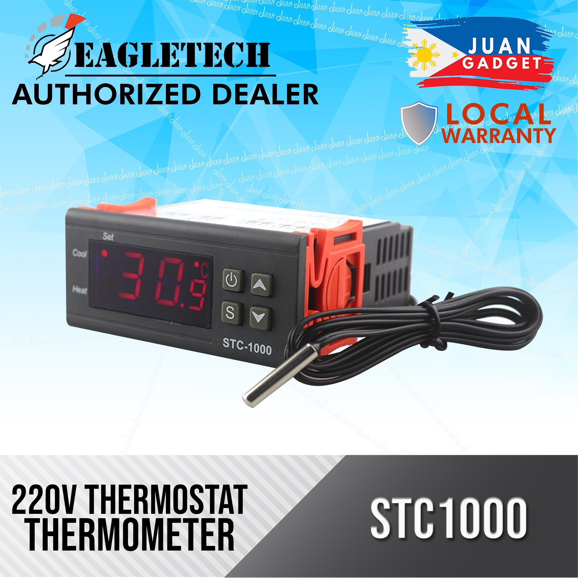hight resolution of two relay output ac 110 220v 10a lcd digital temperature controller stc 1000 with sensor thermostat with heater and cooler