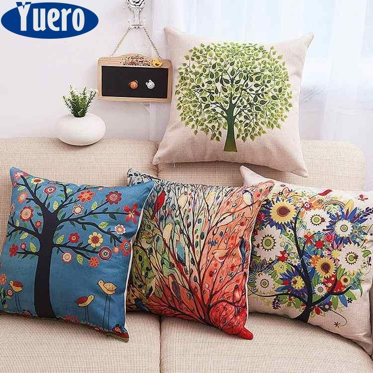 pillow covers for living room layout planner throw pillows sale prices brands review yuero 6pc set home decorative pillowcase cotton linen sofa cushion cover life tree