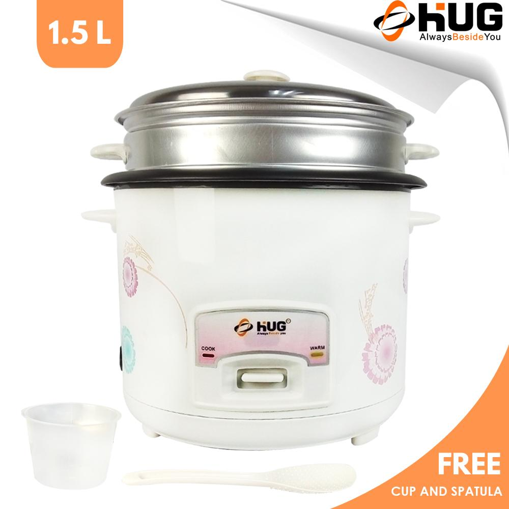 medium resolution of hug 1 5 liter rice cooker free steamer and spatula