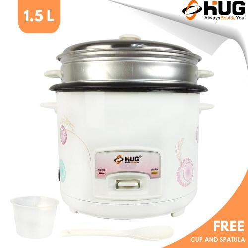 small resolution of hug 1 5 liter rice cooker free steamer and spatula