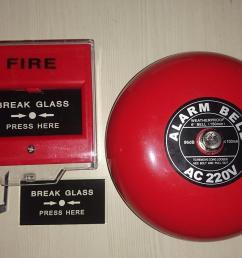 fire alarm bell 6in 220v break glass call point manual push station [ 1920 x 1080 Pixel ]