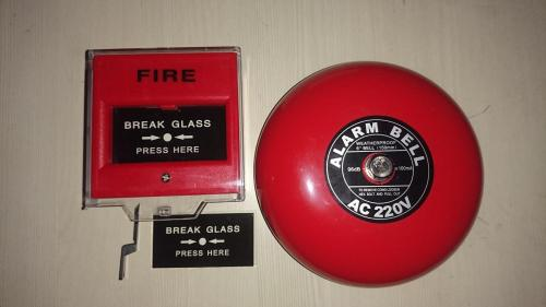 small resolution of fire alarm bell 6in 220v break glass call point manual push station