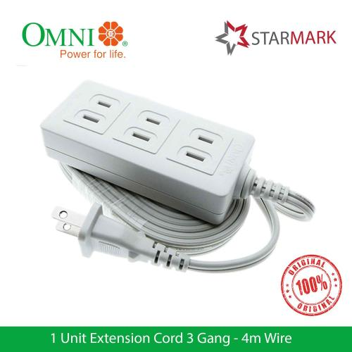 small resolution of omni extension cord set 3 gang 4 meter wire wee003 wee 003 genuine and