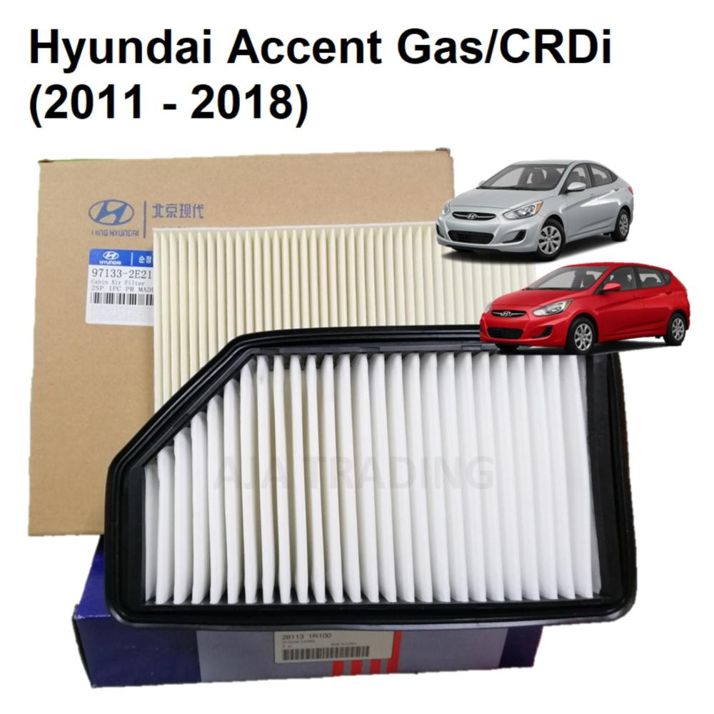medium resolution of combo air filter and cabin filter for hyundai accent 2011 up