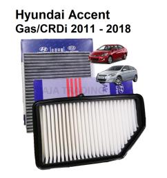 combo air filter and carbon cabin filter for hyundai accent gas and crdi 2011  [ 1920 x 1920 Pixel ]