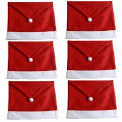 Santa Chair Covers Sets Baby Einstein 6 Of Christmas Decor Cover Claus Red Hat Xmas Decoration Party