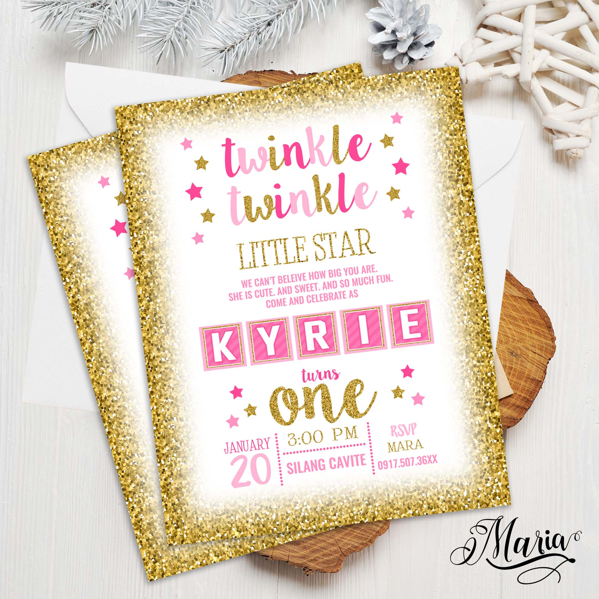 twinkle christening invitation card set of 14 personalized baptismal invitation for birthday christening baptismal