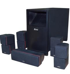 xm 100 home theater speaker system 400watts rms [ 2000 x 2000 Pixel ]