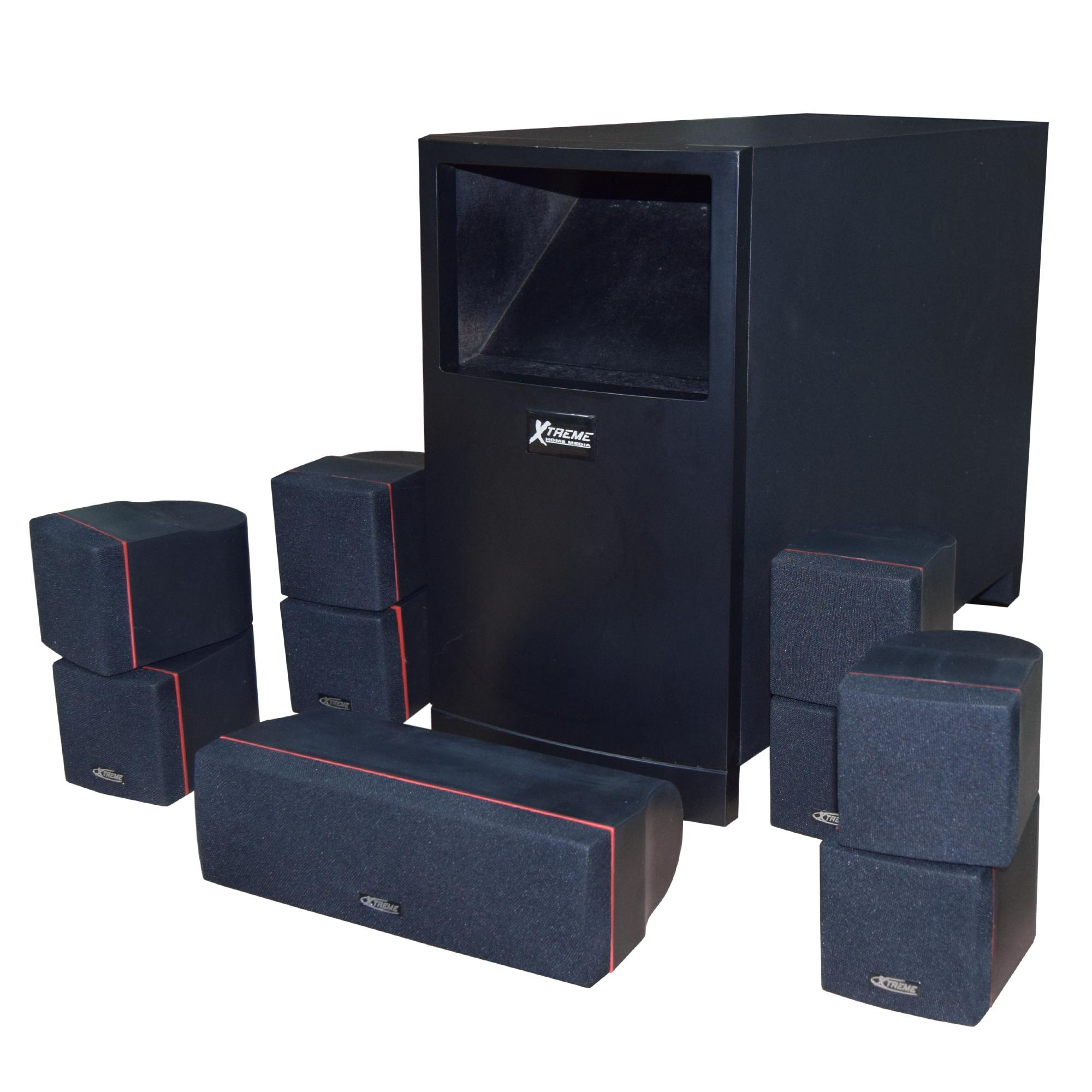 hight resolution of xm 100 home theater speaker system 400watts rms