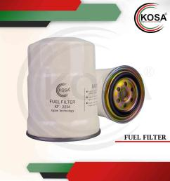 kosa fuel filter kf 2234 for nissan td27 by pass [ 960 x 960 Pixel ]