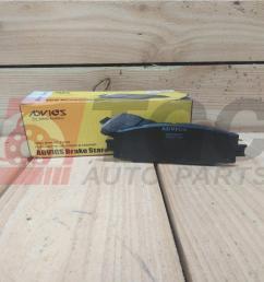 advics disc brake pads for toyota hiace d4d ain229t 2005 15 [ 2000 x 2000 Pixel ]