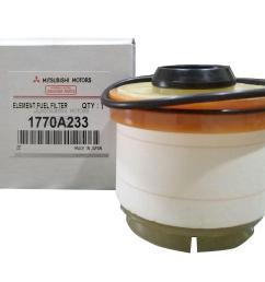 mitsubishi motors genuine fuel filter part no 1770a233 for mitsubishi montero 2012 to 2018  [ 2000 x 1523 Pixel ]