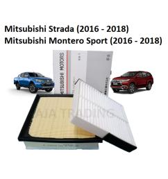 combo air filter and cabin filter for mitsubishi strada and montero sport diesel 2016 2018 [ 1920 x 1920 Pixel ]