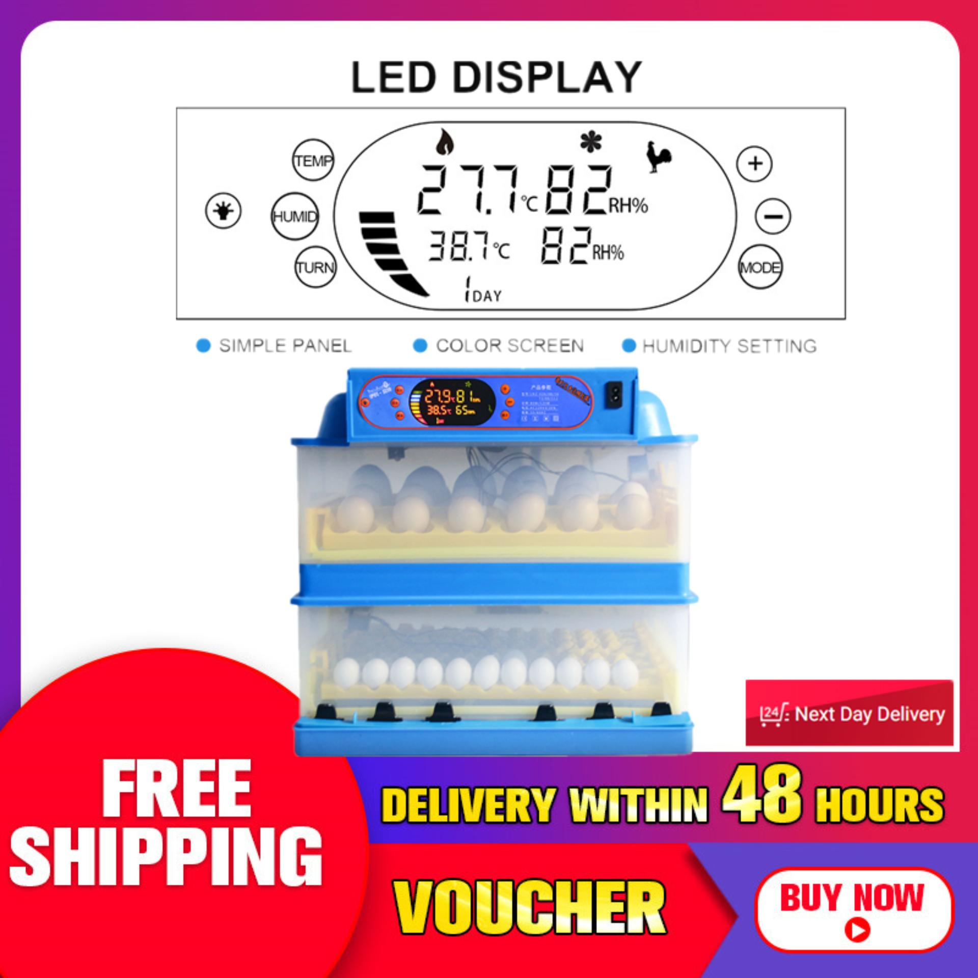 hight resolution of 112 eggs digital automatic turning incubator hatcher machine dual power supply intl