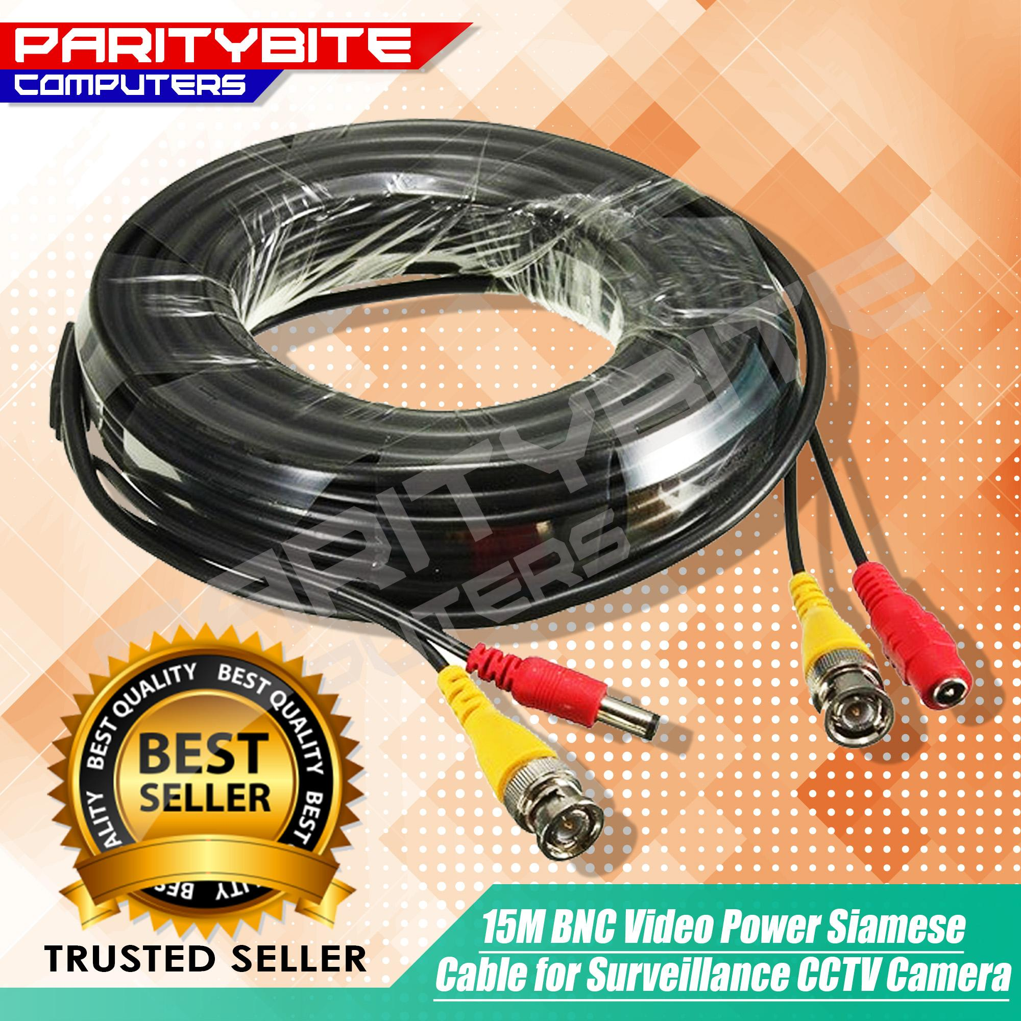 hight resolution of 15m bnc video power siamese cable for surveillance cctv camera