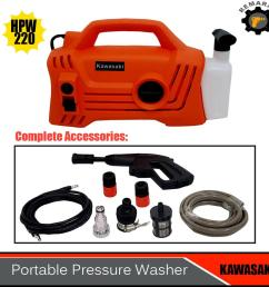 kawasaki portable pressure washer water spray hpw 220 [ 1000 x 1000 Pixel ]