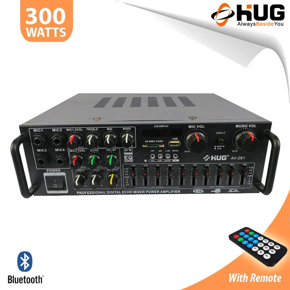 hight resolution of hug av281 300 watts amplifier with mixer equalizer
