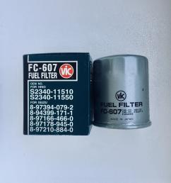 vic fuel filter fc 607 for isuzu forward 6bd1 t 6bg1 6bg1 [ 2448 x 3264 Pixel ]