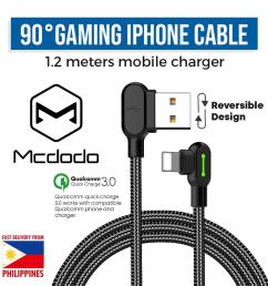 mcdodo ca 4671 iphone gaming lightning charging cable 1 2m [ 1000 x 1000 Pixel ]