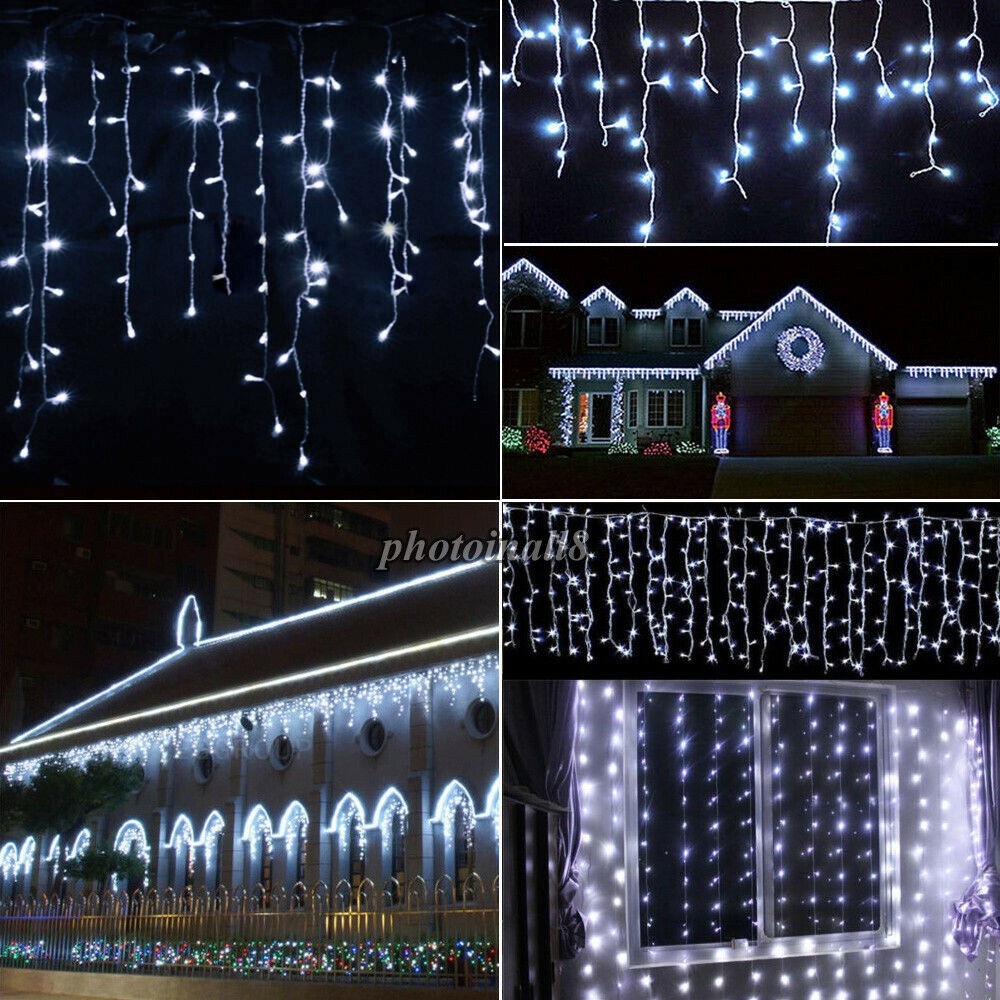 ulife 200l led shower curtain christmas light with controller white wire