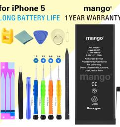 mango c for iphone 5 not 5s 5c battery replacement new [ 1000 x 1000 Pixel ]