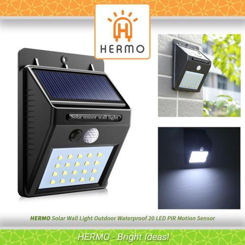 small resolution of solar wall light outdoor waterproof 20 led pir motion sensor great for patios gardens
