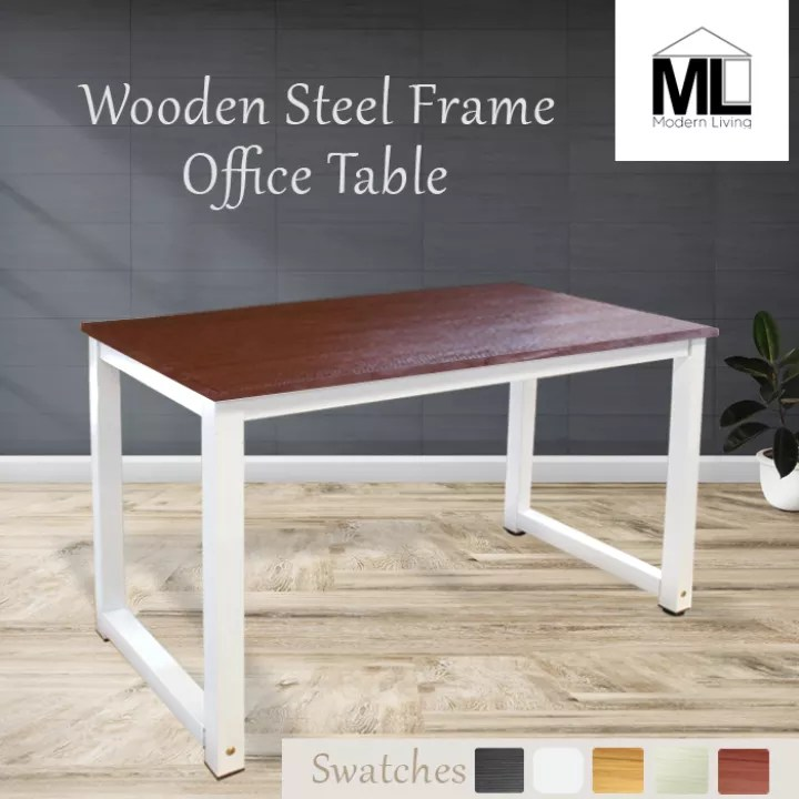 wooden steel frame office tables