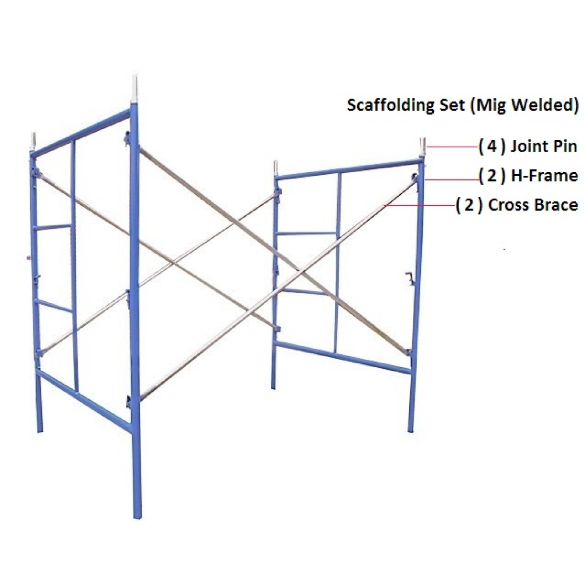 hight resolution of scaffolding set