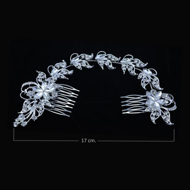 twinkle crystal rhinestone leaves wedding hair accessories jewelry- designer bridal headpiece