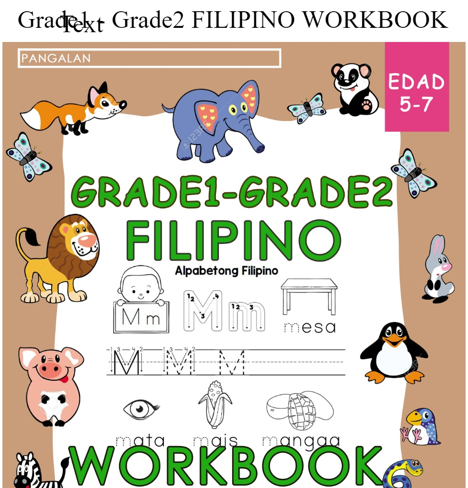 medium resolution of Grade1 - Grade2 FILIPINO WORKBOOK   Lazada PH