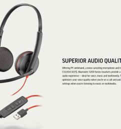 specifications of plantronics blackwire 3225 usb and 3 5mm jack corded headset binaural with noise canceling microphone p n 209747 22  [ 1849 x 855 Pixel ]
