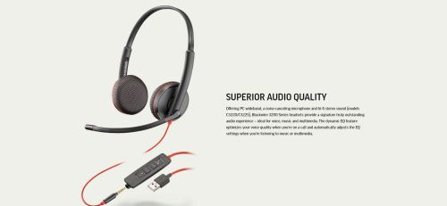 small resolution of specifications of plantronics blackwire 3225 usb and 3 5mm jack corded headset binaural with noise canceling microphone p n 209747 22