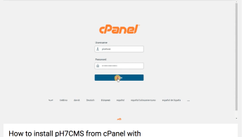 Install pH7CMS from cPanel with Softaculous