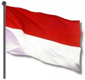 The Indonesian national flag.