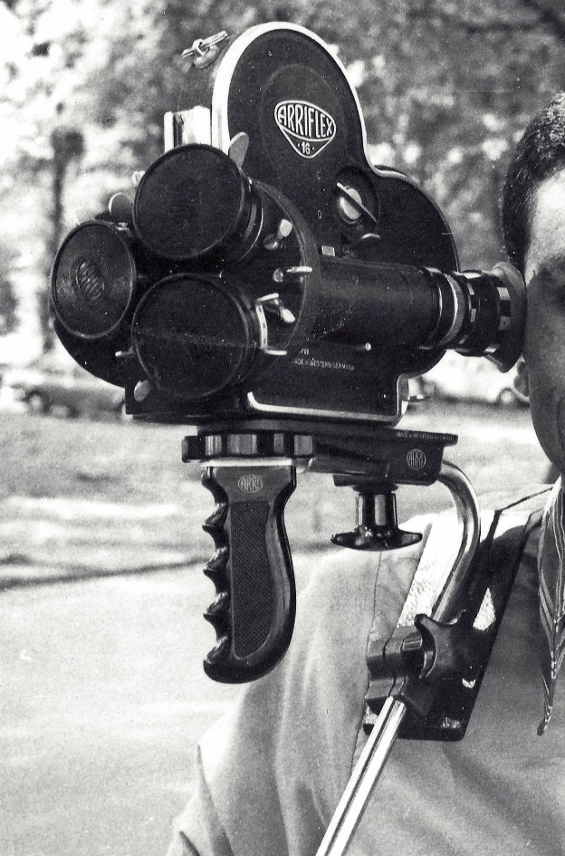 The 16mm Arriflex camera in this photo is  like the one I used.