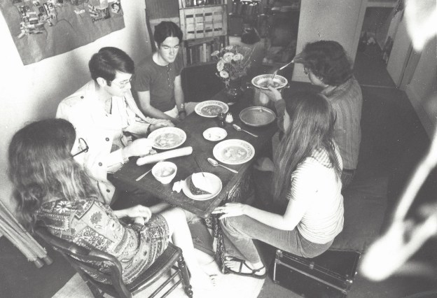 At the Paris apartment of Ralph and Deborah in 1971. I'm second from the left, Tim's next, then Ralph, Deborah, and Deborah's sister Kathy.