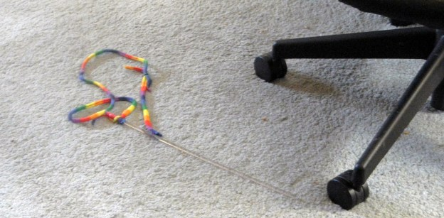 The wand toy moved to a new spot since I saw it last...