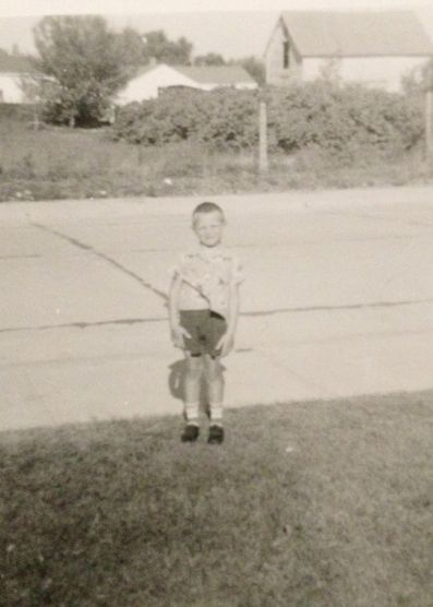 terry on fist day of kindergarten