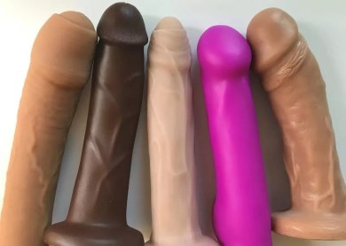 Dual-density silicone dildos Tantus O2 Uncut #1, Pleasure Works Firm Core Cadet, New York Toy Collective Ellis, Blush Real Nude Ergo, Vixen VixSkin Johnny