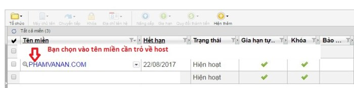 huong dan tro domain ve hosting