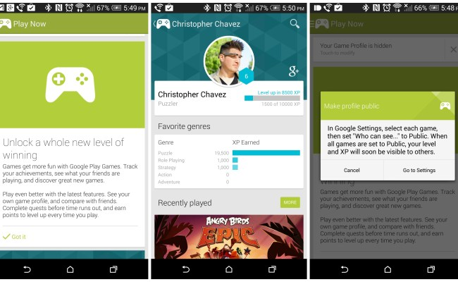 Google Play Games 2 0 Introduces Player Profiles With Xp