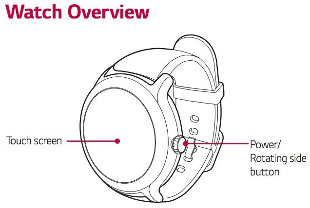 User guides for the LG Watch Sport and Watch Style leak
