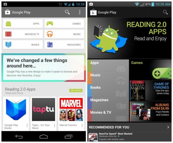 New Google Play Store
